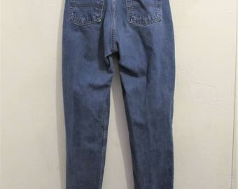 Women's Vintage 90's,Blue Hi Waist,CLASSIC FiT,TAPERED Jeans By GUESS Black Label.7M(28)