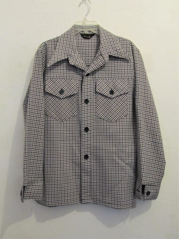 A Men's Vintage 70's,CHECKERED Red,White & Blue DI