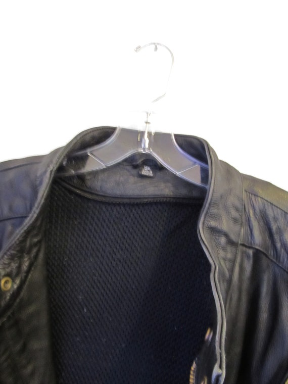 By Black 2XL Racer VANCE 90's Vintage Jacket RUGGED Cafe A LEATHER Men's Leather qBFxzwA