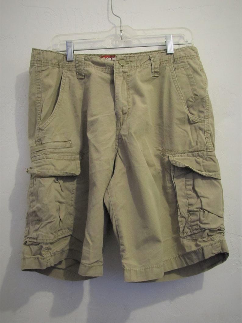 3840fa63dc Men's Vintage 90'sTan Khaki CARGO Shorts By LEE   Etsy