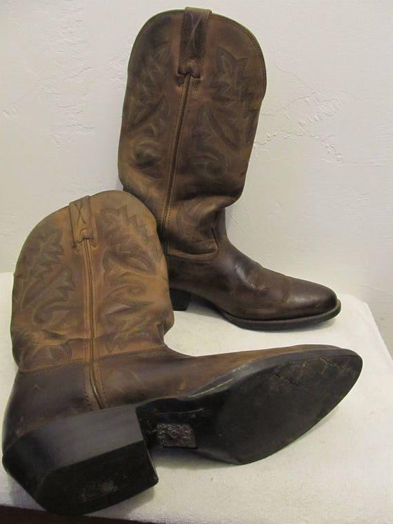 Boots hommes WESTERN 8 10 Cowboy 90 Style brun FEMM ' francoise en des 5D Vintage RwvHq