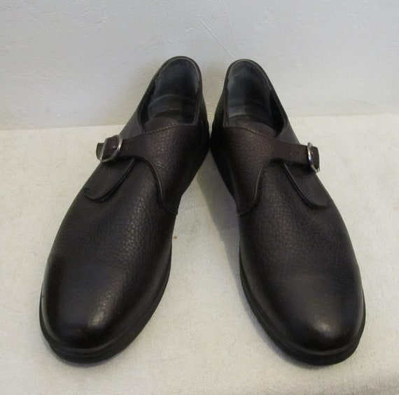 Men's Preppy Vintage 90's,Dark Brown BUCKLE Shoes… - image 2