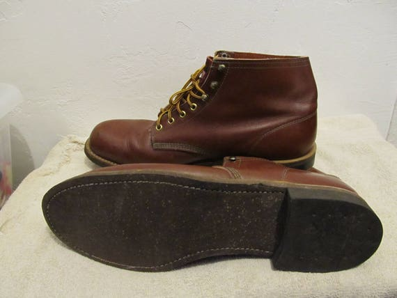 70's Men's N' WORK Vintage ANKLE Red SPORT By Cork Bottom 13D Boots pp5rqR