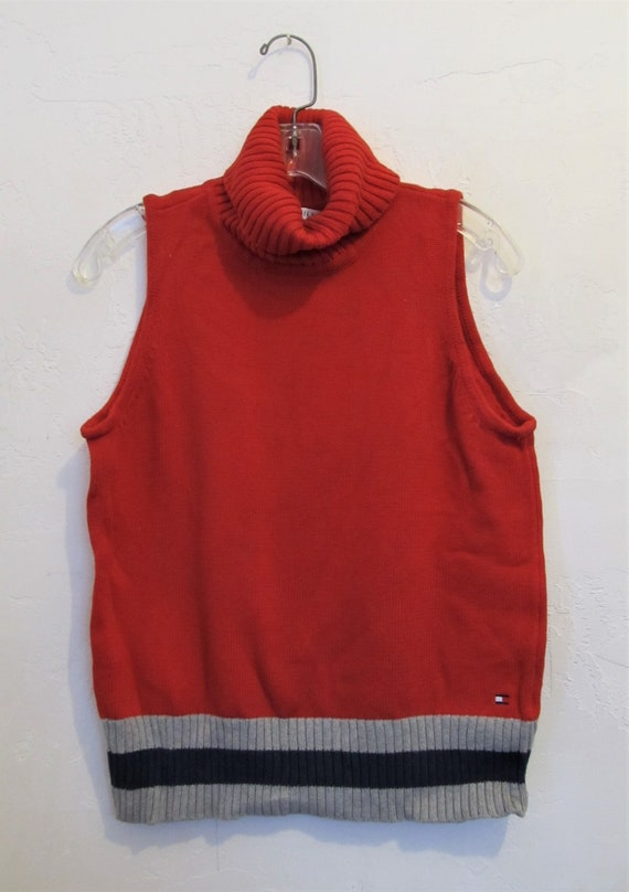 A Women's,Vintage 90's,SLEEVELESS Red Turtleneck S