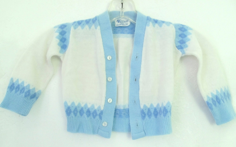 392140c14 Marked Down 30%   A Baby Boy s Vintage 60 s Blue   White HIPSTER era ...