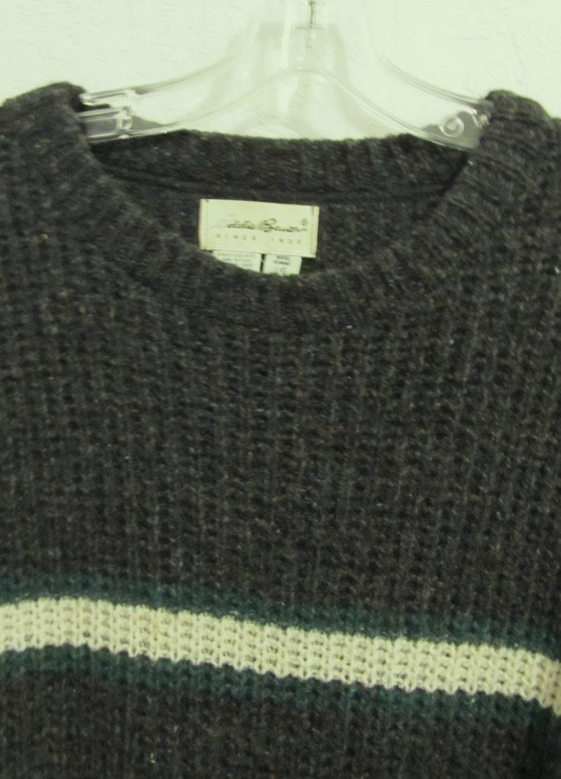 A Men/'s Sporty Vintage 90/'s,BuLKY Hip Hop era WOOL Blend Sweater By EDDIE BAUER.L