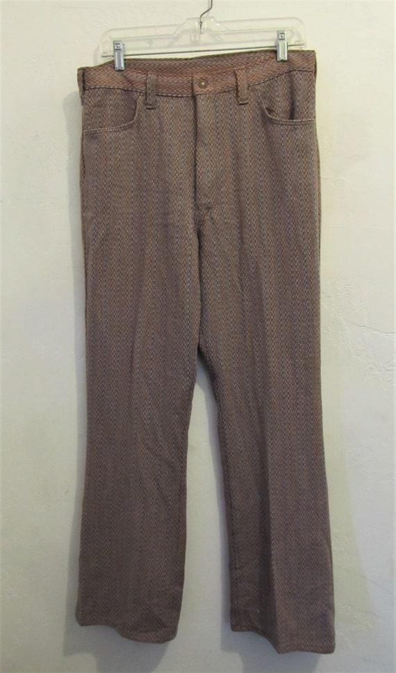 Reduced@@Men's Vintage 60's,Jaquard Striped Knit … - image 1