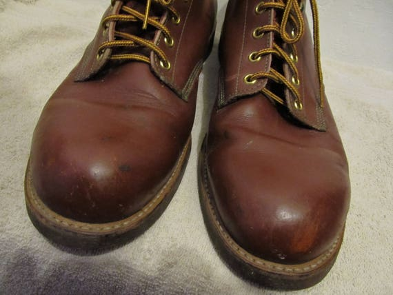 Red 70's N' Boots Cork WORK Bottom SPORT Men's ANKLE 13D Vintage By 6ZnfWgf1
