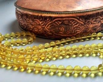 Love - 108 beads baltic amber mala for meditation (size Ø7 colour 2), buddhist meditation, guru bead, 108 bead mala