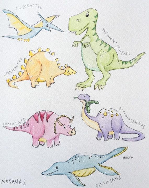 Hand Painted Dinosaur Stegosaurus Letter Opener