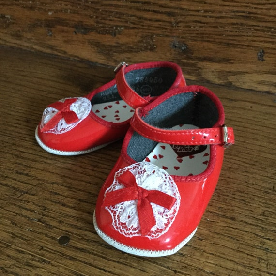 c0af751a03fd6 Vintage Red Mary Janes - Baby Girl Mary Janes - Size 1 Dyna Kids Mary Janes  - Red Baby Dress Shoes - Christmas Shoes - Holiday Shoes - Fancy