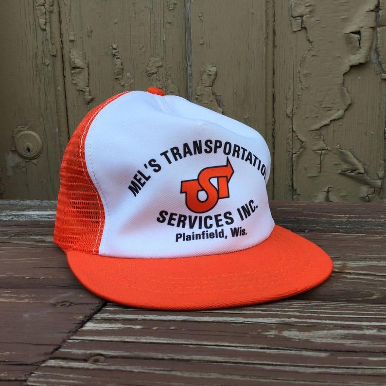 00a04652d2273a Hipster Trucker Hat Orange Trucker Hat Ironic Hat | Etsy