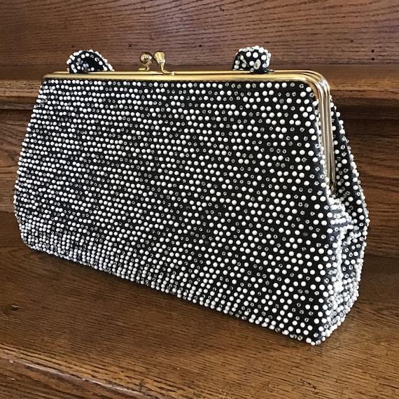 Vintage Lumured Handbag - Vintage Evening Bag - Vi