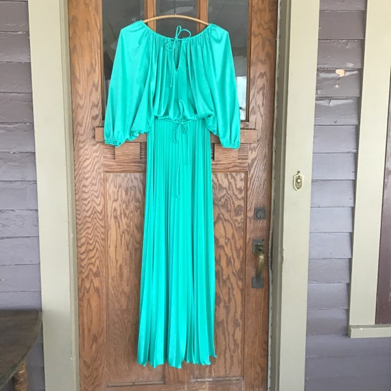 Vintage Evening Gown - Green Vintage Dress - Accor