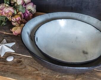 Ceramic Bowls set, Ceramic Serving Bowls ,Wabi Sabi bowls, Handmade Pottery Bowls,Mixing Bowls, White Pottery Bowls, Holiday Gift