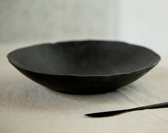 Handmade Ceramic Bowl, Natural Minimal Nordic Rustic Monochrome Decorative fruit dish, New Home Gift  stoneware bowl, soup breakfast bowl