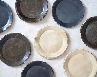 Ceramic Plate, Cake Plate, Stoneware plate, Dessert Plate, Salad Plate, Modern Plate, Handmade Plate, Gift For Her.
