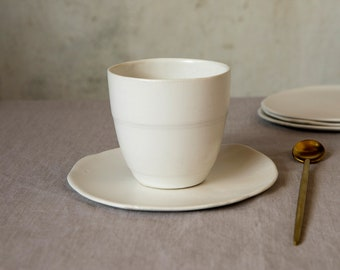 Ceramic Coffee Mug, Ceramic Cups Set of 2, Ceramic Mug, Handmade Coffee Mug, Coffee Lovers Gift, Cappuccino Mug, Tea Mug, Wedding Gift