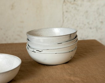 white ceramic bowl, Modern Rustic Stoneware, Soup bowl