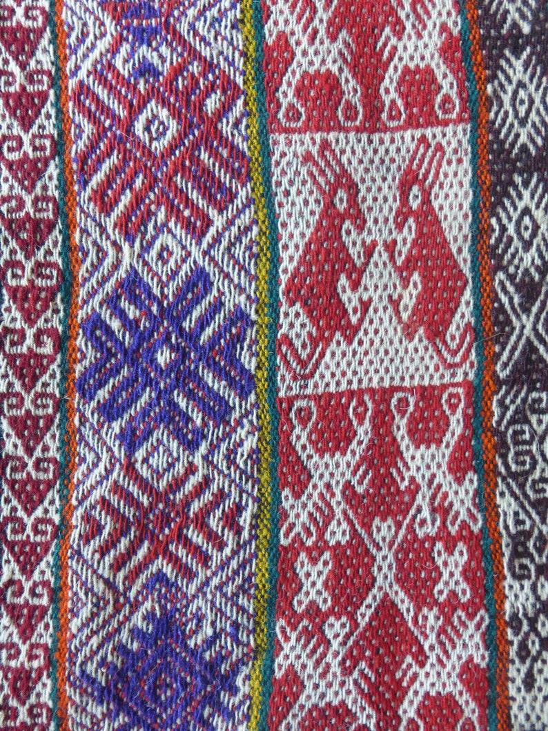 Peruvian Aguayo Mastana Andean Mountain Handwoven Textile