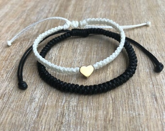 couple bracelet his and hers bracelet set Small gift for him and her stackable bracelet set