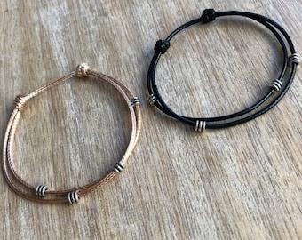 Turner, Couple Bracelets, Waterproof His and her Bracelet, Gold and Black Matching Bracelet Set WC001150