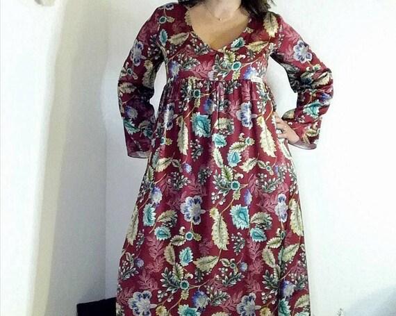Bohemian dress, Dresses, Autumm dress, Floral dress, Robe