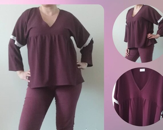 Tunica bordeaux, Blouses, Tunics, Women's clothing