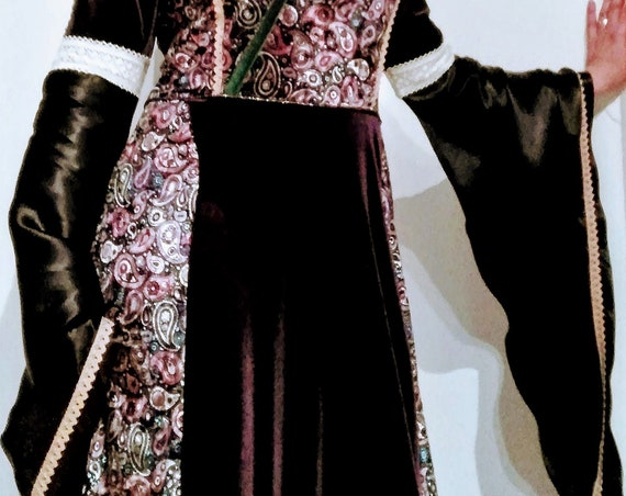Medieval dress, Costumes, Elven dress, Women medieval dress, Womens clothing, medieval costume, velvet dress, wedding medieval dress