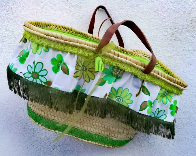 Wicker Alcofa, traditional Portuguese alcofa, straw Seira, basket, basketful, handmade, custom alcofa, beach bag, shopping basket