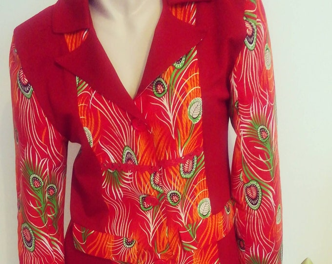 African fabric jacket, Capulana coat, Womens clothing, coats, African clothing, Handmade coats, Made in Portugal, Capulana Clothes