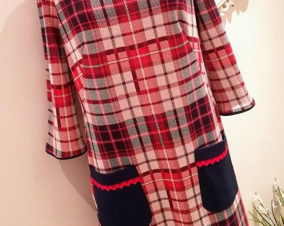 Dress, Robe, Chess dress, women dress, Vintage dress, Handmade dress, women Clothing, Made in Portugal, Winter dress