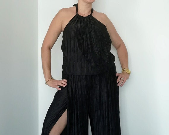 Black Jumpsuit, pleated Jumpsuit, Jumpsuits and Rompers, Womens clothing, Women fashion, Summer Jumpsuit, Handmade clothes, wedding jumpsuit