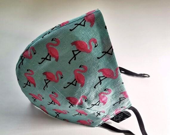 Flamingos Model Mask, Washable mask, Reusable face mask, Cotton mask, Travel mask, Anti Dust mask, Stoffmaske, Fabric Facemask
