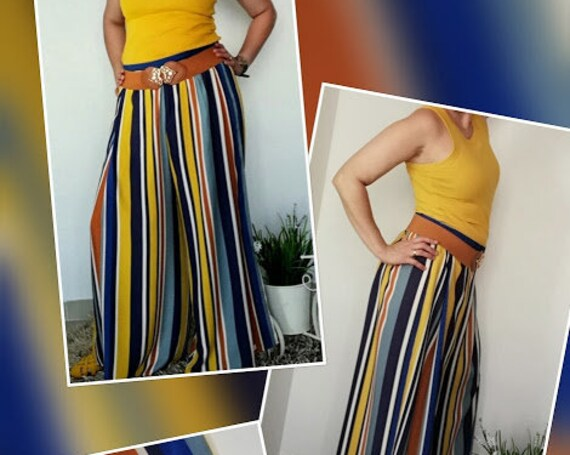 Pants, striped pant, Summer pant, Pantalona, Womens Clothing, Handmade Clothes