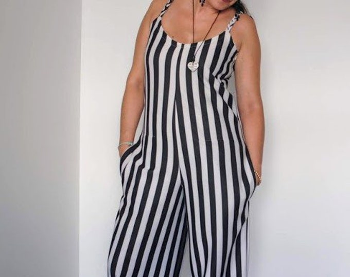 Jumpsuit, Jumpsuits & Rompers, Handmade in Portugal, Made4You, jumpsuit, party clothes, Wedding Jumpsuit, Summer Jumpsuit, stripes jumpsuit