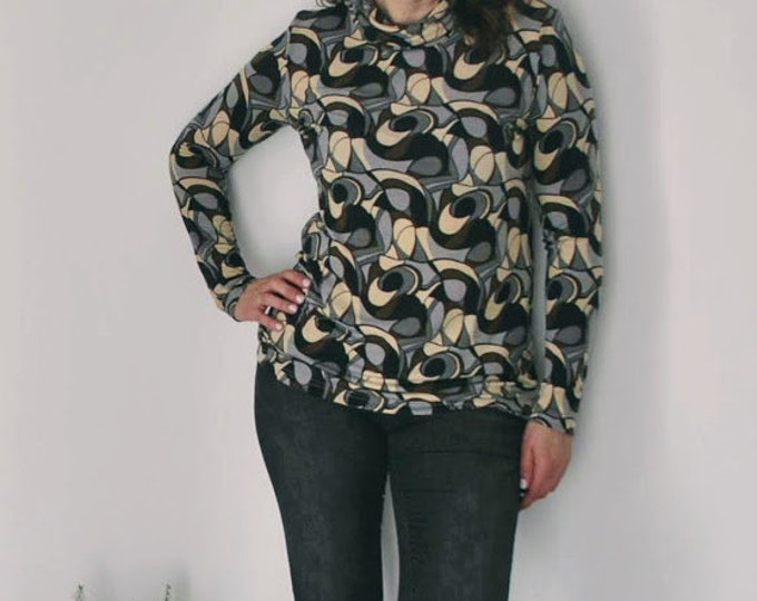 High neck blouse, womens clothing, blouses, winter clothes