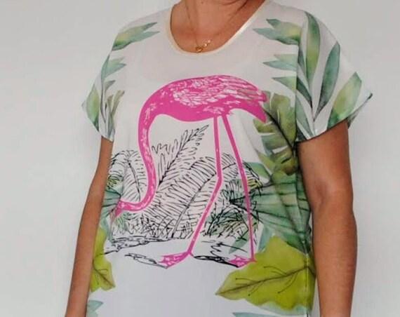 Flamingo tunic, Blouses, Tops & Tees, tunics, Women's Clothing, blouses