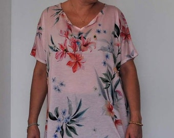 Floral blouse, tunic, Womens clothing, Plus Size Tunic, Blouses