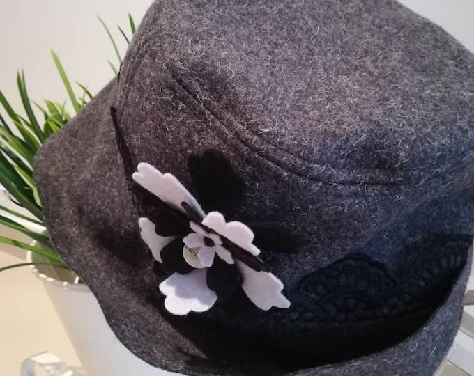 Hat in Burel, hat, 100% wool, hats, Winter hats, Made in Portugal, Portuguese handicrafts, beret