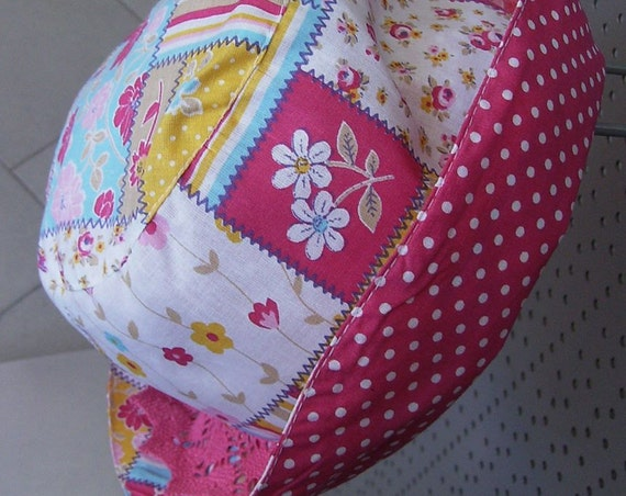 Panama, child hat, boaters & Panama Hats, Panama Child, Accessories, Girl, children's hats, Patchwork, handmade, children handmade hats
