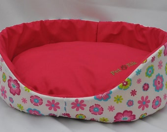 Pet bed, Xik pink Floral pet bed, pet furniture