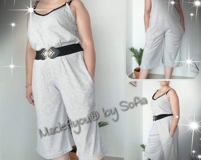 Jumpsuit, Womens clothing, Summer Clothes, Cotton Jumpsuit, Handmade Clothes