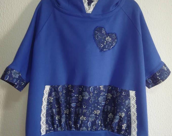 Sweat-shirt, Women's clothing, handmade sweat-shirt, personalized clothing, handmade in Portugal, girls shirts, sports style, New style
