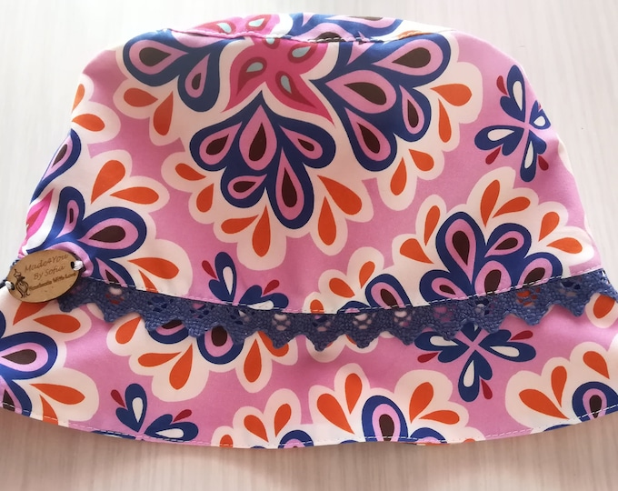 Hats, child's Flowers Hat, Panama Children's, child hat, boaters & Panama, Patchwork, Handmade, Cotton Hats, Sun Protection, Baby hat, Summer