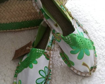Cloth shoes, women's Espadrilles, Handmade shoes, Espadrilles, Alpercatas, moccasins, women's shoes, women's Slip Ons, Custom Espadrilles