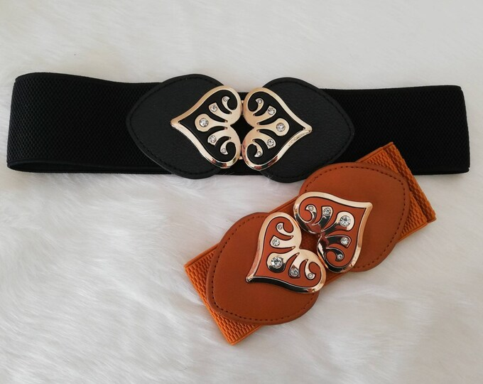 Elastic belt, belt, Vintage belt, Women Accessories