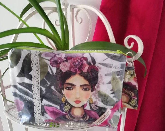 Waterproof handbag Frida Kahlo, Necessaire, multipurpose bag, beach bag, hand bag, fanny pack