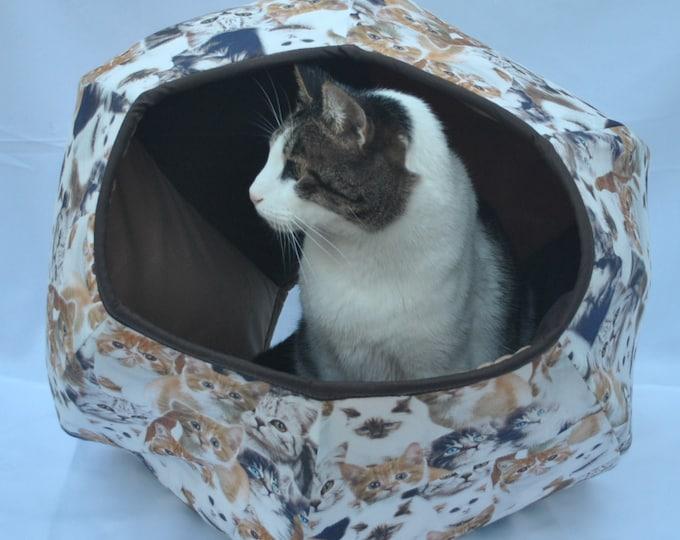 Cat Cave, Cat cave-fabric kittens, Pet supplies, Cat bed, Pet furniture, Pet House, Handmade, Cat Ball. Cat Cave Kittens