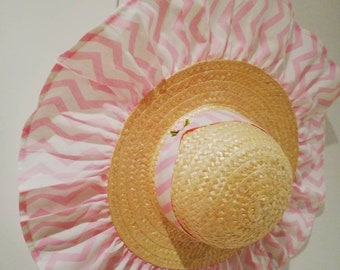 Straw Hat for toddler, custom hat, hats, straw hat, sun hat, sun protector for toddler
